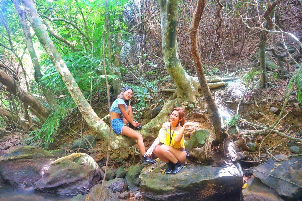クーラの滝トレッキングツアー途中の撮影ベストスポット