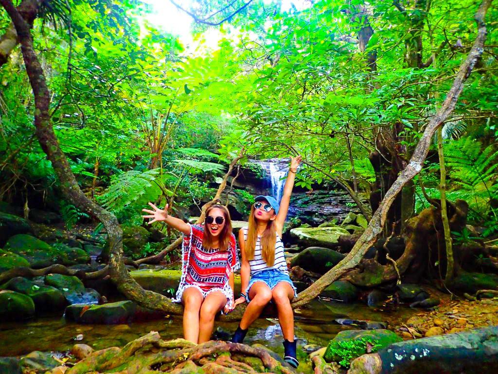 女子旅西表クーラの滝にて