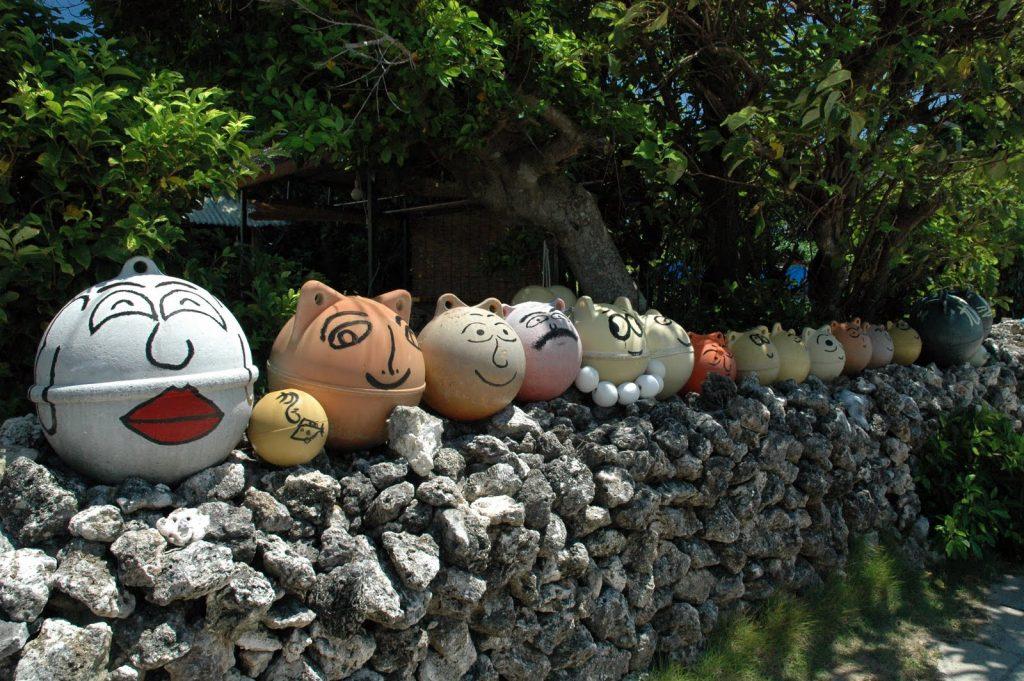 西表島の民家の風景
