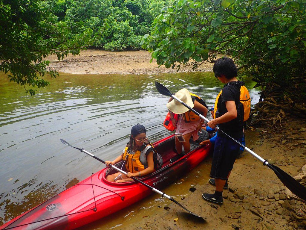 カヌーを乗る練習