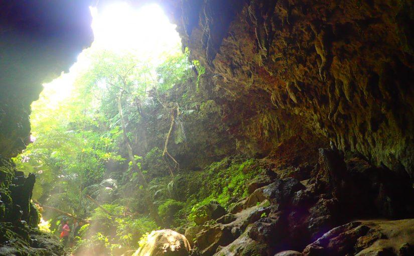 西表島の鍾乳洞