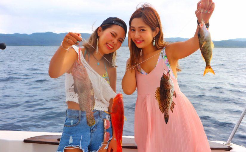 西表島の釣りガール