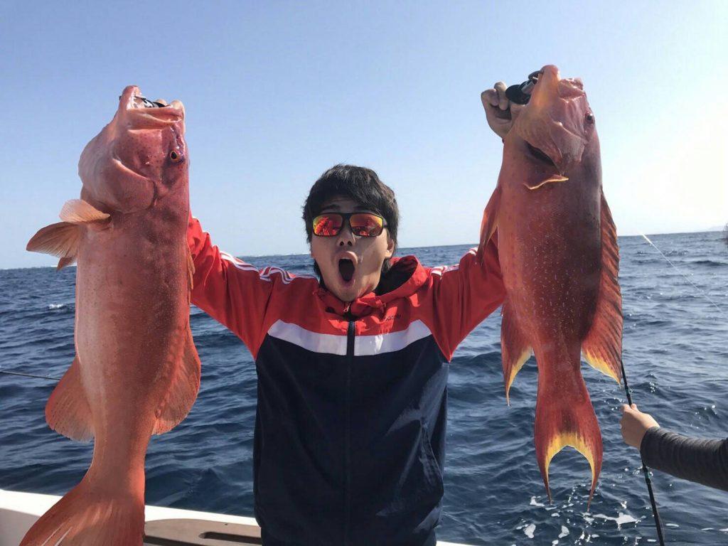 西表島で大物を釣る