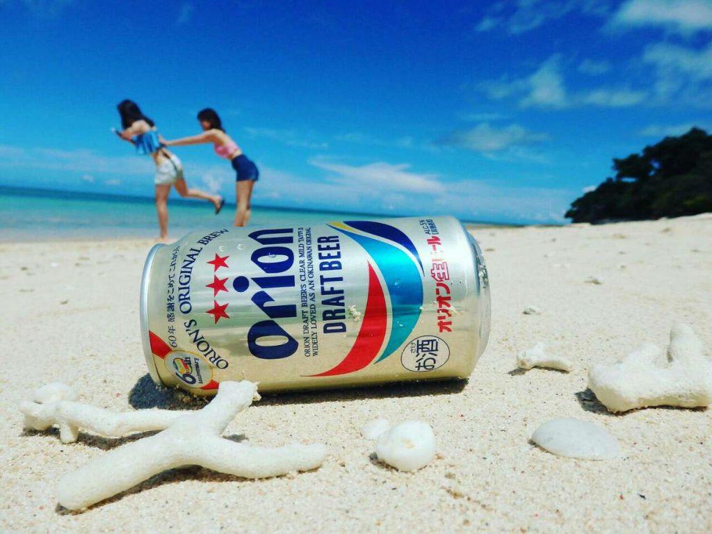 オリオンビールと鳩間島