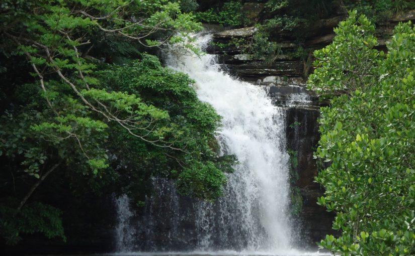 西表島の水落の滝