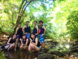 西表島クーラの滝、友達と